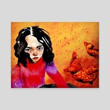 chickens  - Canvas by Tatum Flynn