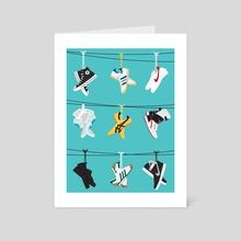 Flick Kicks Blue - Art Card by Jeremy Harnell