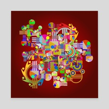 Geometric abstraction No. 45 - Canvas by Dmitry Payvin