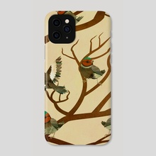 A choir of birds on a tree - Phone Case by Michal Eyal