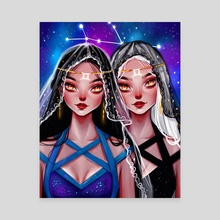 Gemini  - Canvas by Muzenik  Art