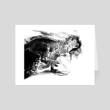 Cheetah In Black and White - Art Card by Crystal Smith
