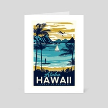 aloha hawaii - Art Card by matt schnepf