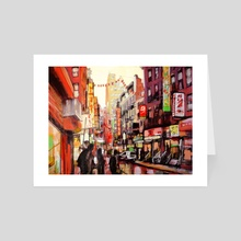 Chinatown New York City - Art Card by Anselm Dästner