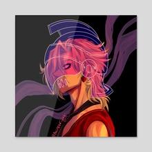 Fugo with Purple Haze Helmet - Acrylic by Cam