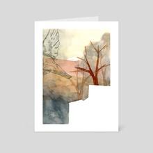 Brutalist Birdie - Art Card by Maurice Corbesier