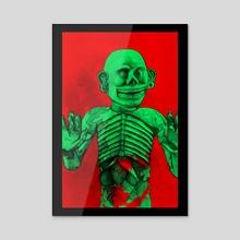 Mictlantecuhtli with black border - Acrylic by Peter Andrew