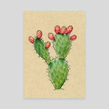 Cactus Fruit - Inktober 2019 #20 - Canvas by Jessica French