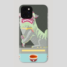 Guardian Lion dog - Phone Case by Carly A-F