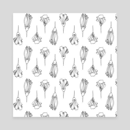 flower pattern by Catarina Ferreira