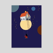 Swing in space - Canvas by Michal Eyal