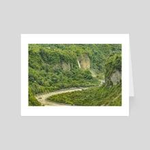 Amazonia Landscape, Banos, Ecuador - Art Card by Daniel Ferreira Leites