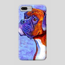 Colorful Brindle Boxer Dog - Phone Case by Rebecca Wang