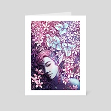 Pink flowers - Art Card by Laya Rose
