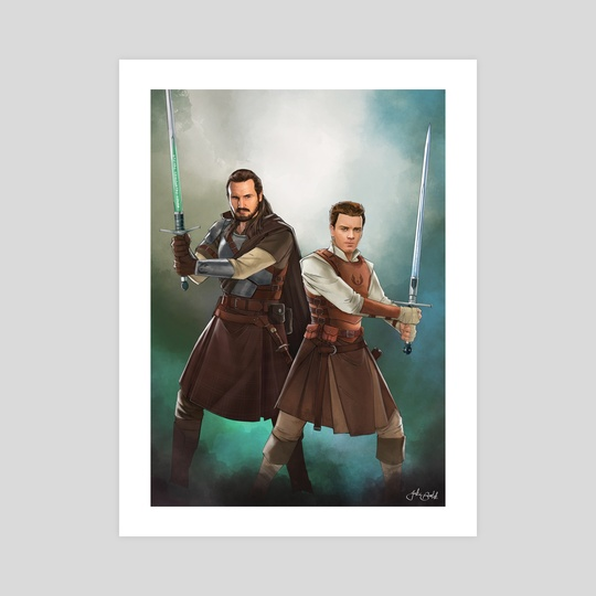 Olde Republic:  Qui-Gon and Obi-wan  by Jake Bartok