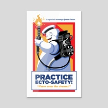 Ecto-Safety! - Acrylic by Brian Farris