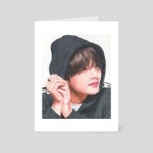 BTS V Drawing 1 - Art Card by Danielle