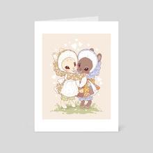 Best Bunny Buds - Art Card by Samantha Whitten