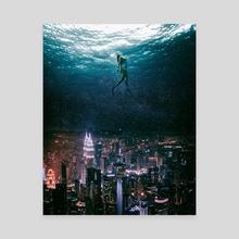Underwater city - Canvas by Gabriel Avram
