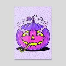 High Halloween Pumpkin - Acrylic by Meowgress