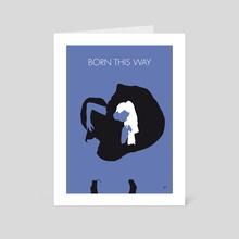 No038 MY LADY GAGA Minimal Music poster - Art Card by Chungkong