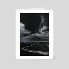 Pointe Du Hoc - Art Card by Nigel Stewart