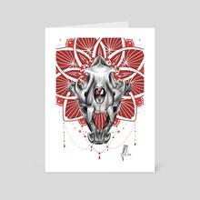 Tiger Skull - Art Card by Julie Overmann