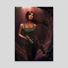 Tomb Raider Tribute - Canvas by Matt Heath