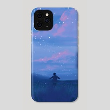 lavender fields and the bluest dawns - Phone Case by miena