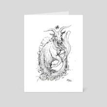 Zodiac: Capricorn - Art Card by Kate Trish