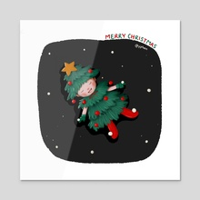 Christmas baby - Acrylic by Y Phien Tra