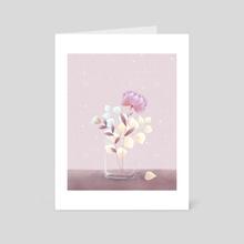 Lunar Flowers - Art Card by Weronika Salach