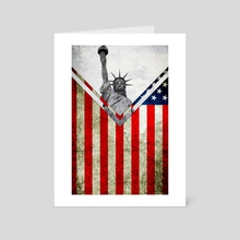 Flag - USA - Art Card by Alexandre Ibáñez
