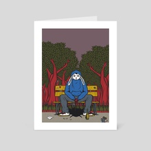 Alone in The Park - Art Card by andrea moresco