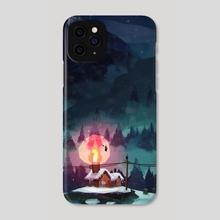Winter cabin - Phone Case by Trudi Castle