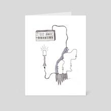 Feelings of a Visual Poet - Art Card by velvet paint