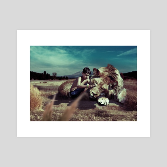 The Lion and Kid by tiljo joseph
