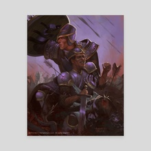 Retreat! HEX TCG Card - Canvas by Tamires Para