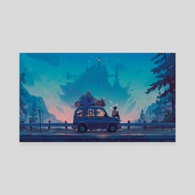 Kingdom in Blue - Canvas by Matt Rockefeller