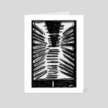 Light I - Spine + Ribs - Art Card by Eric Sylvester