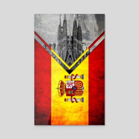 Flag - Spain by Alexandre Ibáñez