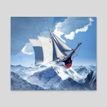 Voyage - Acrylic by Eduardo Valdés-Hevia