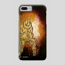 Hold your breath [Ocher] - Phone Case by HOHLBAUM.ART