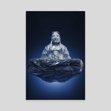 FLYING BUDDHA - Canvas by Gigi Gvalia