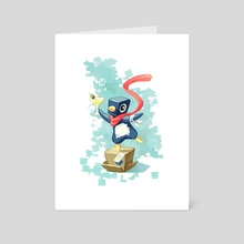 Party Penguin - Art Card by Indré Bankauskaité