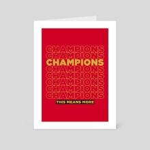 Champions Retro 7 - Art Card by Visuals Artwork