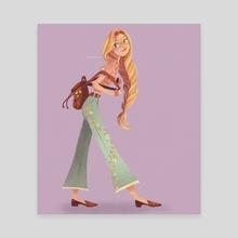 Punzie  - Canvas by Amanda Morrow