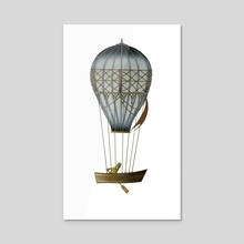 Flying Fisherman - Acrylic by Adam Lindsay Honsinger