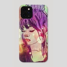 colorful girl - Phone Case by Zeren Dogan