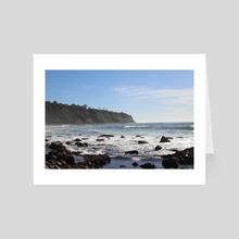 Malaga Beach  - Art Card by Brianna Wickham
